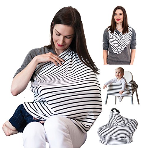 Nursing Breastfeeding Cover Scarf – Multi use Infinity Str