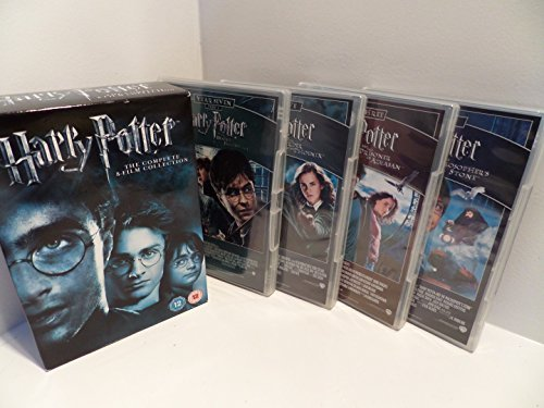 The Harry Potter 1 - 8 Complete DVD Collection: Philosphers Stone, Chamber of Secrets, Goblet of Fire, Prisoner of Azkaban, Order of the Phoenix, Half Blood Prince, Deathly Hallows Part 1, Deathly Hallows Part 2 + Extras + Featurettes etc by Daniel Radcliffe B01I08FL2A