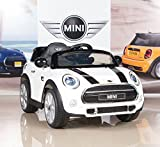BigToysDirect 12V MINI Cooper Kids Electric Ride On Car with MP3 and Remote Control - White