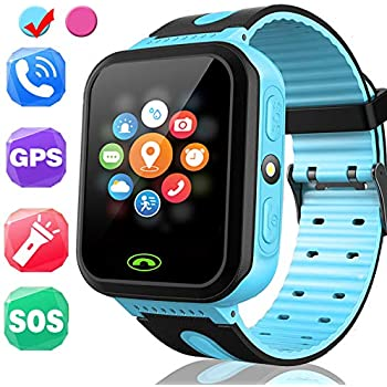 Kids Smart Watch - Smart Phone Watch for 3-12 Year Old Boys Girls with GPS Locator 1.5 HD Touch Screen Fitness Tracker SOS Camera Game Flashlight Anti ...