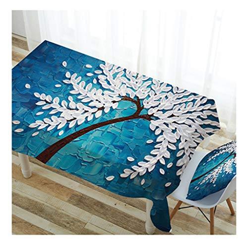 THOR-BEI Nappe Imperméable Nappe Nappe Coton Et Lin Rectangulaire Jardin Impression Table Nappe (taille   140  200, style   1)