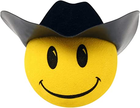 Yellow Smiley Antenna Ball Collectible Three Stooges LARRY Car Antenna Topper