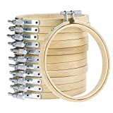 Caydo 4 Inch Round Embroidery Hoop Bulk Wholesale 12 Pieces Bamboo Circle Cross Stitch Hoop Ring