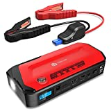 iClever 800A Peak 18000mAh Portable Jump Starter (up to 6.5L Gas Or 5.3L Diesel Engine) Auto Battery Booster, Portable Power Pack with LED Flashlight, Compass