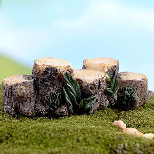 (Lannmart 1pc Tree Stump Miniature Figurine Fairy Garden Decoration Figures Home Cake Car Ornaments Cartoon Statue Resin Craft Toy)