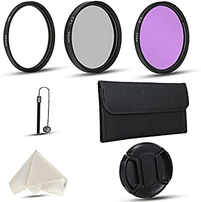 Kit de filtros de lente de cámara de 55 mm para cámaras réflex ...