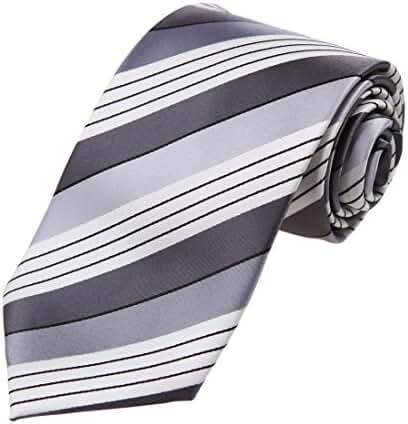 DAA7A.05 Happy Stripes Microfiber Tie For Husband Neckwear By Dan Smith