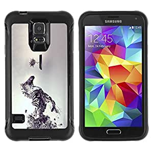 Planetar® ( Sci Fi Zebra ) Samsung Galaxy S5 V SM-G900 Hybrid Heavy Duty Shockproof TPU Fundas Cover Cubre Case