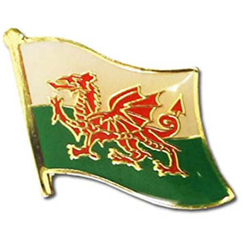 Wales Flag Backpack/Hat Pin/Red Dragon National Symbol for hats, backpacks, and suit jacket lapels (Welsh pin, 0.75