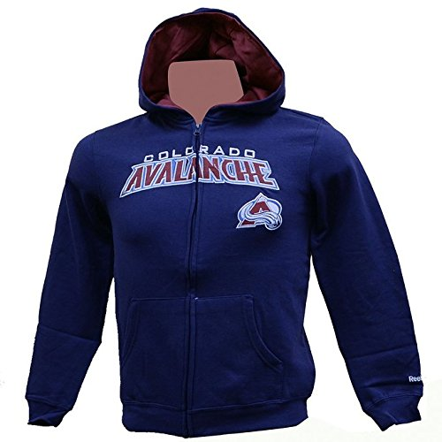 Colorado Avalanche Youth Fleece - Colorado Avalanche Stated Youth Full Zip Hooded Sweatshirt (S)