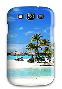 Rugged Skin Case Cover For Galaxy S3- Eco-friendly Packaging(bora Bora)