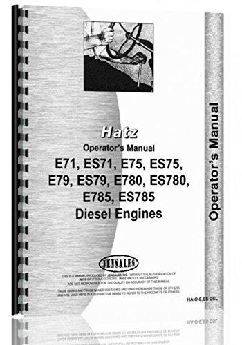 Hatz Engine - ENGINES Hatz E,ES Diesel Operators Manual