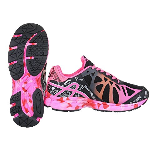 Mujer Pink Ital Schwarz Cerrado Design H61223B 37 FwIFE