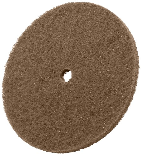 Scotch-Brite Cut and Polish Disc, Aluminum Oxide, 6'' Diameter, Medium Grit (Pack of 100) by Scotch-Brite