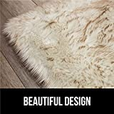 Gorilla Grip Premium Faux Fur Area Rug, 3x5, Fluffy