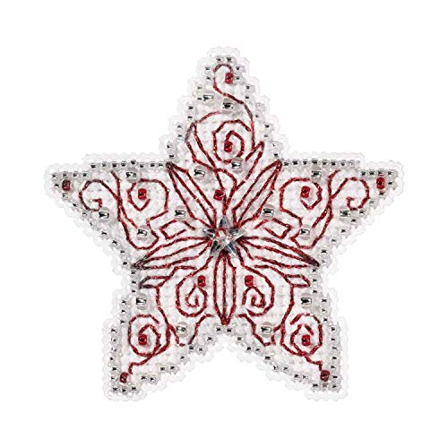 Filigree Star Beaded Counted Cross Stitch Ornament Kit Mill Hill 2019 Winter Holiday MH181932