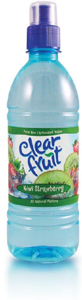 Clear Fruit Kiwi Strawberry Water Sport Bottle, 16.9 oz (24 Pack)
