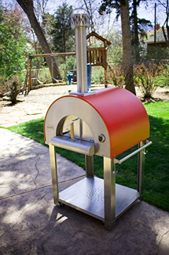 Bella Medio28 Portable Pizza Oven - 304 Stainless Steel - High Grade Ceramic Floor - Made In The USA by Bella Outdoor Living
