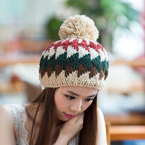 Maozi Sombreros Colores al Orange para Invierno Aire de BEIGE Salvaje de Lana Punto Simple versión Mezclados Coreana señoras Libre Ventilador de Sombrero rxaRSqrwY