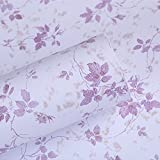 SimpleLife4U 2pcs Rose Flower Self-Adhesive Contact Paper Shelf Liners Roll,17.7-Inches by 9.8-Feet