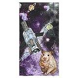 Artsadd Bathroom Shower Towel Animal Marmots in Space Galaxy Solar System Bath Towel 30''x56''
