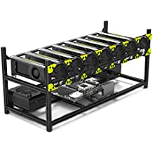 8 GPU Stackable Preassemble Mining Case Rig Aluminum Open Air Frame For Ethereum(ETH)/ETC/ZCash/Monero/BTC Easy Mounting Edition(Just 10 minutes)