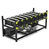Mining Case 8 GPU Stackable Preassemble Rig Aluminum Open Air Frame for Ethereum(ETH)/ETC/ZCash/Monero/BTC Easy Mounting Edition