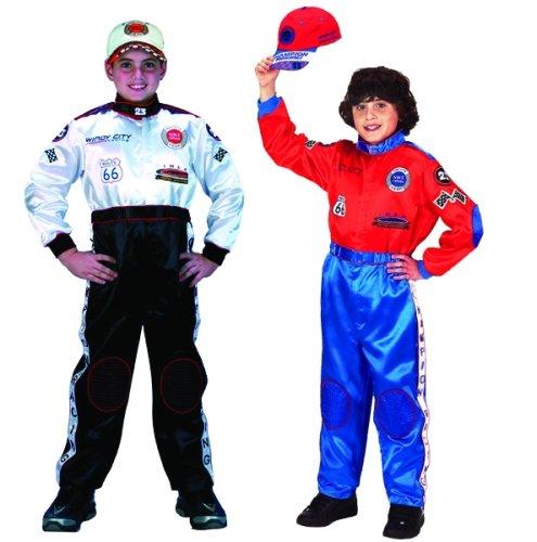 [Aeromax Jr. Champion Racing Suit, Black and White (Child 4-6)] (Dance Costumes Uniform)