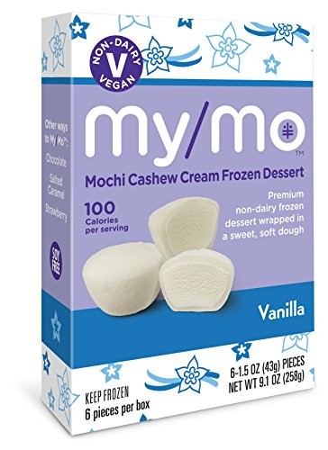 My/Mo Vanilla Mochi Cashew Cream Frozen Dessert (6 x 6ct. boxes) by My/Mo Mochi Ice Cream
