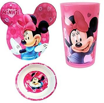 Disney Mickey \u0026 Minnie Mouse Ear-Shaped Plate set (Minnie Mouse Pink)  sc 1 st  Amazon.com & Amazon.com : Disney Mickey \u0026 Minnie Mouse Ear-Shaped Plate set ...