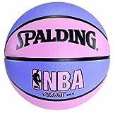 Spalding NBA Street Basketball - Pink & Purple - Intermediate Size 6 (28.5') by Spalding