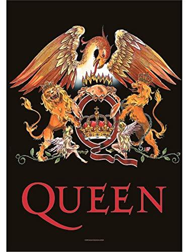 amazon de queen poster classic crest logo nue offiziell textile 75cm x 110cm