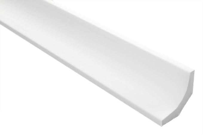 Decken-// und Wand/übergang Stuckprofile XPS modern wei/ß Zierleisten Musterst/ück E-20 dekorativ extrudiertes Styropor leicht und stabil 65 x 60 mm