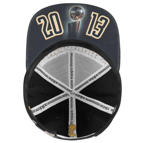 the best attitude fe471 899be adidas Miami Heat 2013 NBA Champions Locker Room Strap Back Hat   Amazon.co.uk  Sports   Outdoors