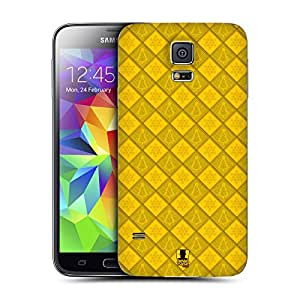 Head Case Designs Yellow Snowflaky Christmas Replacement Battery Back Cover for Samsung Galaxy S5
