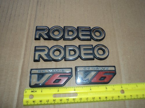 93-97 Honda Passport Fender Rodeo V6 Emblem 24 Valve Badge Decal Nameplate SET of 4 Fender 94 95 96 Car