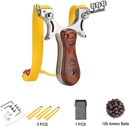 High Quality Rubber Band Catapult Slingshot Sling Shot Hunting Games 5//10Pcs Kit