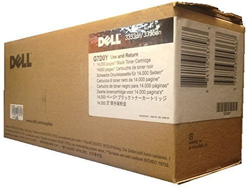 Genuine Original Dell Brand GG7D0Y High Yield Toner Cartridge (14,000 page yield) for Use In: Dell 3333/3333DN/3335/3335DN (330-8985, HMHW3, 330-8987, V99K8, 593-11056)