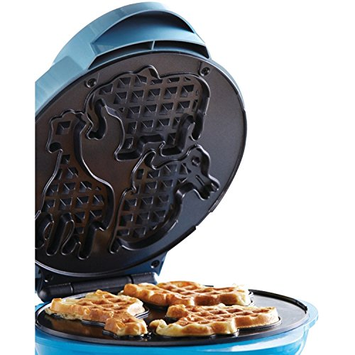 Brentwood TS-253 Appliances Electric Food Maker-Animal-Shapes Waffle Maker, Blue by Brentwood (Image #7)