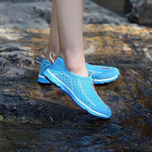 CocoMarket Mens Womens Laies Water Shoes Beach Shoes Wet Shoes Aqua Shoes Surf Swim Shoes Blue Nv1FOI2