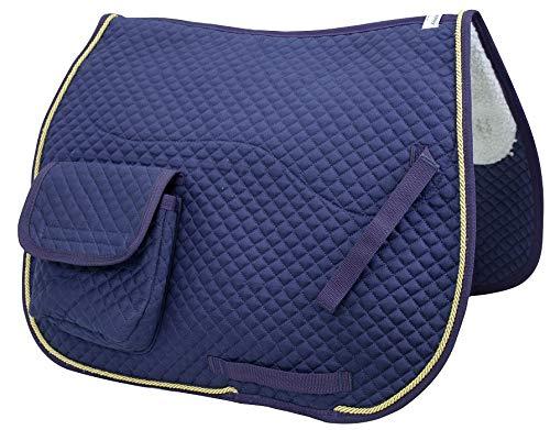 Derby Originals Dressage / Australian Saddle Pad with Pockets and Half Fleece Lining