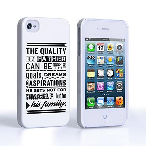 Caseflex iPhone 4 Coque Rigide Citation Papa Et Sa Famille
