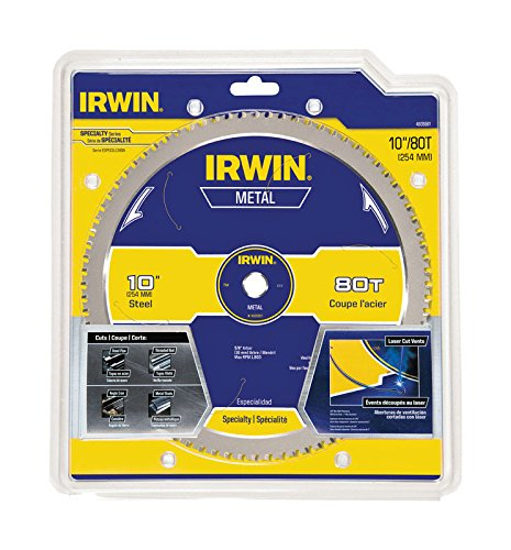 - IRWIN Tools Metal-Cutting Circular Saw Blade, 10-inch, 80T (4935561)