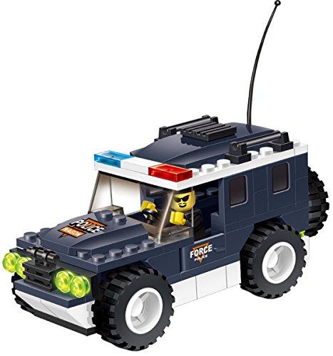 High Speed Police Wagon 114 Pcs Building Block Set, All-