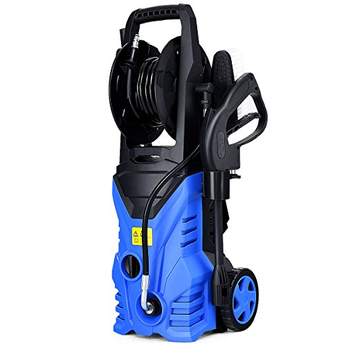 Goplus Electric High Pressure Washer 2030PSI 1.6GPM Power Pressure Washer Machine w/Wash Brush and High Pressure Hose Blue