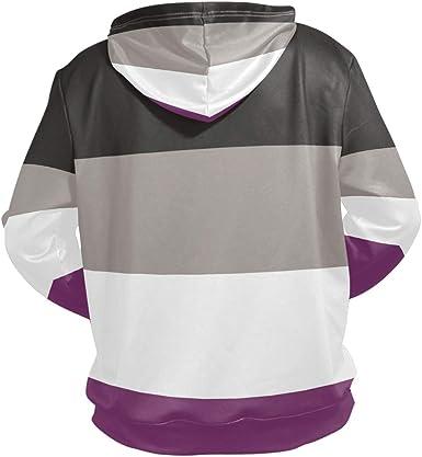 Mens Transgender Pride Flag LGBT Hoodie Ultra Soft /& Breathable Long Sleeve Hoodies for Sports Black