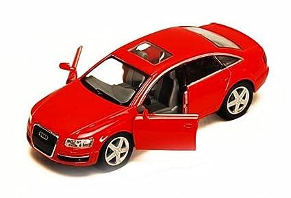 Amazon Com Audi A6 Red Kinsmart 5303d 1 38 Scale Diecast Model