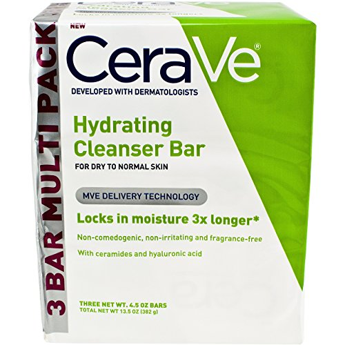 301872482032 - CeraVe Facial Cleanser, Hydrating Cleansing Bar, 13.5 Ounce carousel main 0