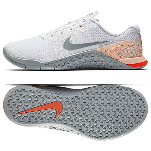 Nike Women's Metcon 4 Training Shoes (7, White/Grey)