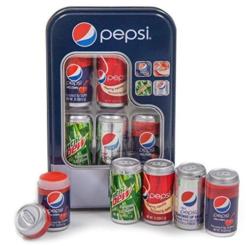Trèfles à lèvres Pepsi Lip Balm Vending Tin 5 Paquet Lipsmackers WILC39036B
